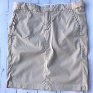 GAP | Khaki Mini Skirt Stretchy Adjustable Waist